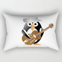 Funny penguin with guitar Rectangular Pillow