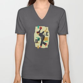 Abstract Boule Player Unisex V-Neck