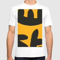 yellow black zen art Mens Fitted Tee MEDIUM White