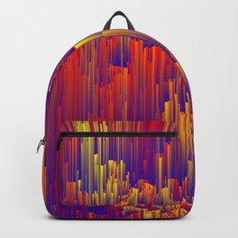 Fiery Rain - Pixel Abstract Art Backpack