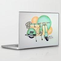 vespa Laptop & iPad Skins featuring Vespa  by Melissa Rodriguez
