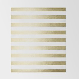 Simply Striped Gilded Palace Gold Throw Blanket