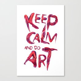 Keep calm Art typography Canvas Print