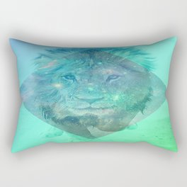Galaxy dreaming Lion Rectangular Pillow