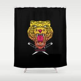 Warrior Instinct Shower Curtain