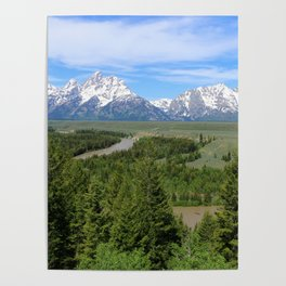 Snake River And The Grand Tetons Poster