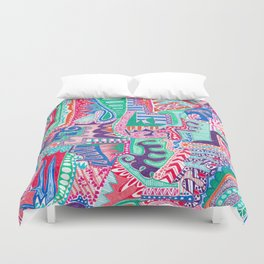Actions and Reactions Duvet Cover