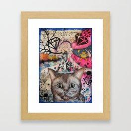 """Cat"" illustration Framed Art Print"