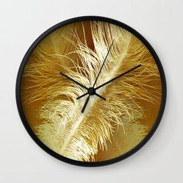 Golden Ostrich Wall Clock