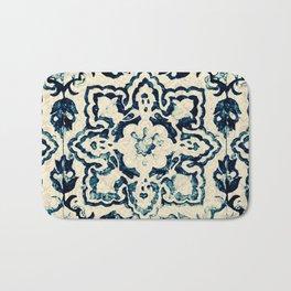 tile pattern - Portuguese azulejos Bath Mat