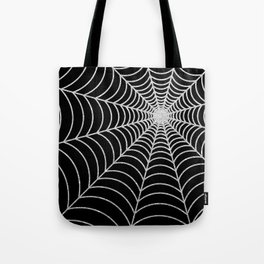 Spiderweb | Silver Glitter Tote Bag