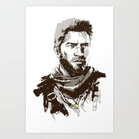 uncharted Art Prints featuring Uncharted 3 by James Brunner