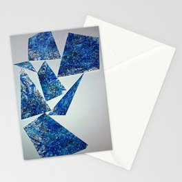 Balancing Glass Shards Stationery Cards