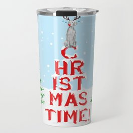 CHRISTMAS TIME WEIMARANER Travel Mug