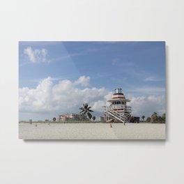 South Beach Miami Lifeguard Station Metal Print