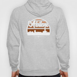 Retro Abilene Texas Sunset Skyline Hoody