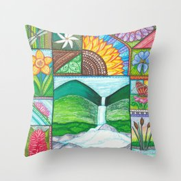 Be Free, Be Wild, Be Friends Throw Pillow