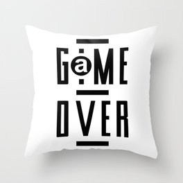 Game Over Modern Video Games Gaming gift  Throw Pillow