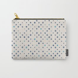 LOTS OF DOTS / linen beige / indigo blue / blue grey / cerulean Carry-All Pouch