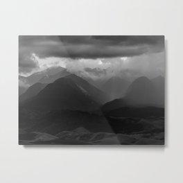 Rainy mountains Metal Print