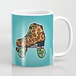 Roller derby vintage leopard roller skates Coffee Mug