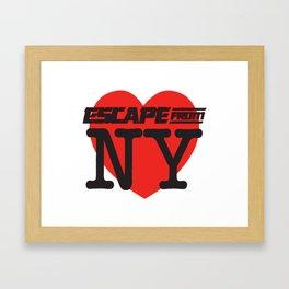 Love Escape From NY Framed Art Print