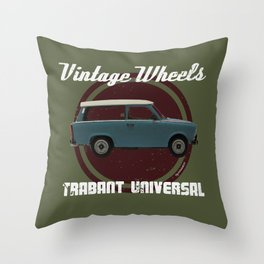 Vintage Wheels: Trabant 601 Universal Throw Pillow