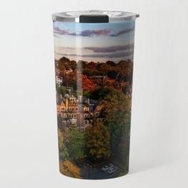 Autumn in Brookline, MA Travel Mug