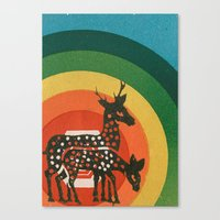 medicine Canvas Prints featuring Deer Medicine by Ben Blanchard