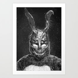 Frank the Rabbit Art Print