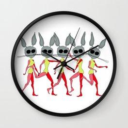 defective rabbit Wall Clock