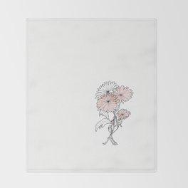 flower illustration Throw Blanket