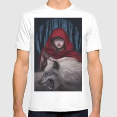 Blood to bear me flowers White MEDIUM Mens Fitted Tee