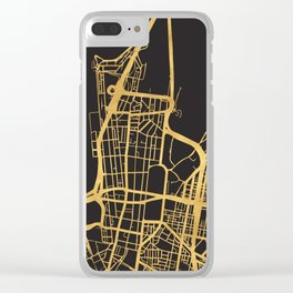 SYDNEY AUSTRALIA GOLD ON BLACK CITY MAP Clear iPhone Case