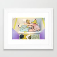 hats Framed Art Prints featuring Hats by Samantha Fortenberry