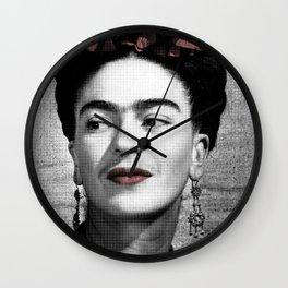 Halftone Frida Wall Clock