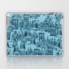 Doctor Who Toile de Jouy | 'Walking Doodle' | Turquoise Laptop & iPad Skin