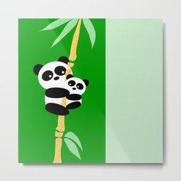 Panda Love Print Metal Print