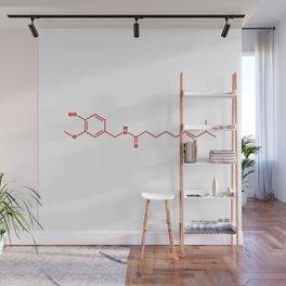 Chili Capsaicin Molecular Chemical Formula Wall Mural