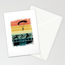 Paragliding Colorful Nature Mountains Stationery Cards