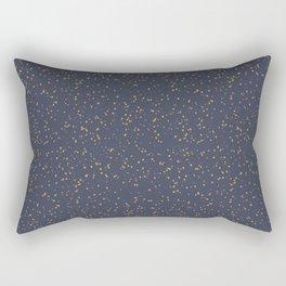 Speckles I: Dark Gold on Blue Vortex Rectangular Pillow