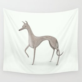 Whippet Portrait Wall Tapestry