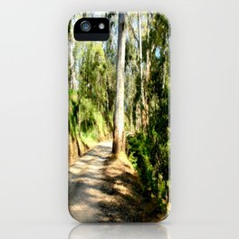 Along a forest Road iPhone Case