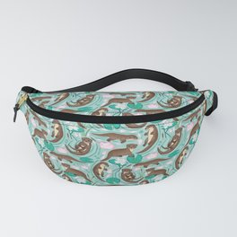 How We Love Each Otter - Mint Background Fanny Pack