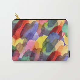 Watercolor brush blots :) Carry-All Pouch