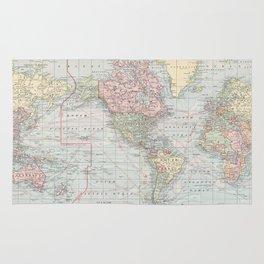 Vintage World Map (1901) Rug