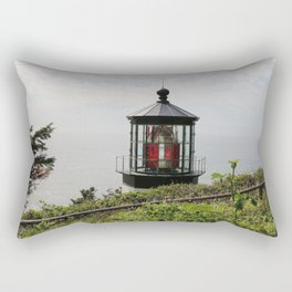 The Red Beacon On Tillamock Bay Rectangular Pillow