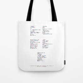 Interpol Discography in Colour Code Tote Bag