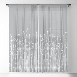 Meadow - Gray and White Sheer Curtain