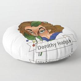 Dorothy Crowfoot Hodgkin Floor Pillow